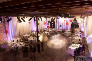 Reception at NOVA 535 with hanging Chinese lanterns for this Multi-Cultural St. Pete Wedding
