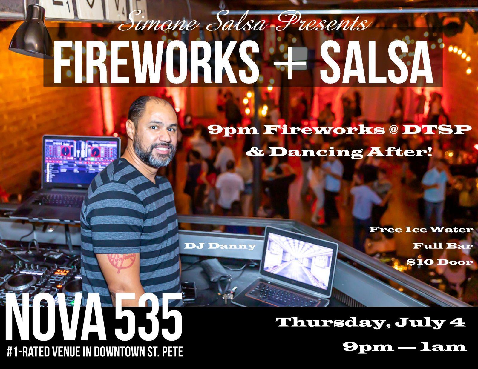 2019 07-04 St. Pete Salsa at historic downtown St. Pete venue NOVA 535 flyer