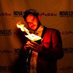 Novaween 13 Costumes and Contests on Halloween Night 10-31-2019 at Downtown St. Pete venue NOVA 535 Corv Van Valin Magician
