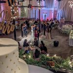 2019 12-08 Jennifer and Michael's Foggy First Dance Courtyard Wedding Ceremony at historic venue NOVA 535
