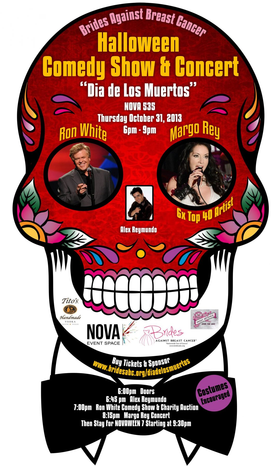 Support Brides Against Breast Cancer on Halloween Night RON WHITE Comedy Show and Live Auction at NOVA 535 in St. Pete