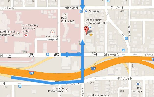 directions to historic Downtown St. Pete venue NOVA 535