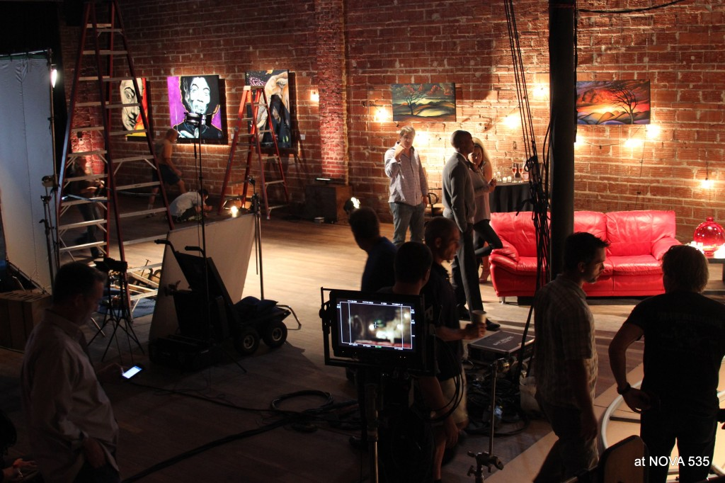 MIddle of Commercial TV shoot