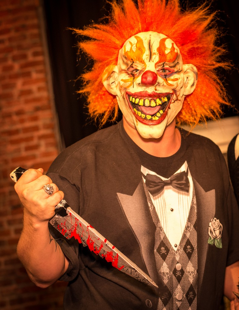 Evil death Clown with knife