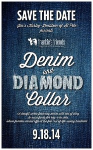 Frankie's Friend's Denim and Diamond Collar Fundraiser at NOVA 535 web flyer
