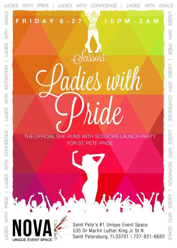 2014 06-27 She Runs with Scissors LADIES with PRIDE flyer