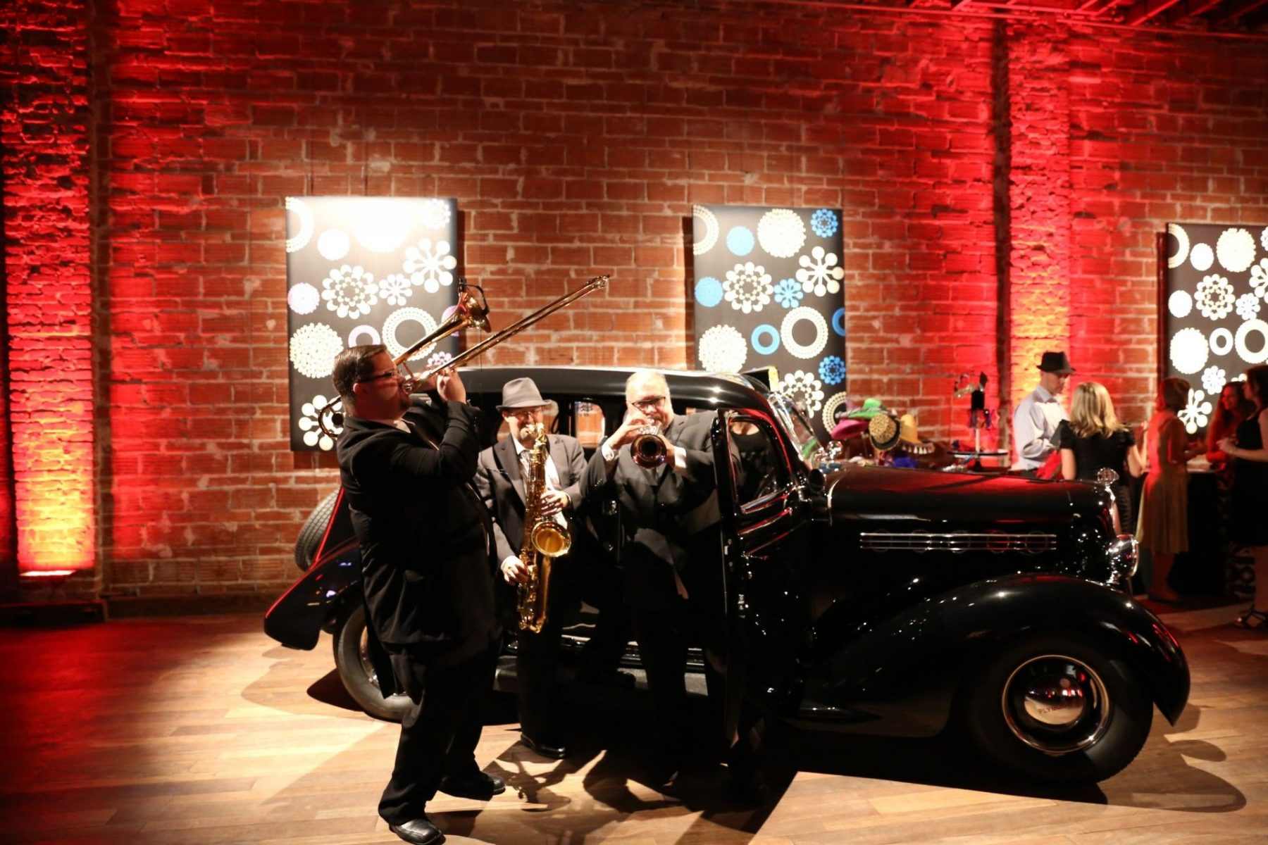 2015 08-05 Bay Kings Band with Get the Picture 1935 Plymouth PJ Deluxe at NOVA 535 St. Pete Florida