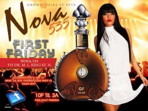 Grown Folks at historic venue NOVA 535 in downtown St. Pete presents First Friday