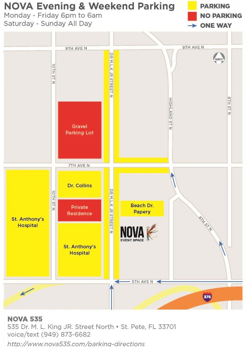 NOVA 535 parking map for nights and weekends