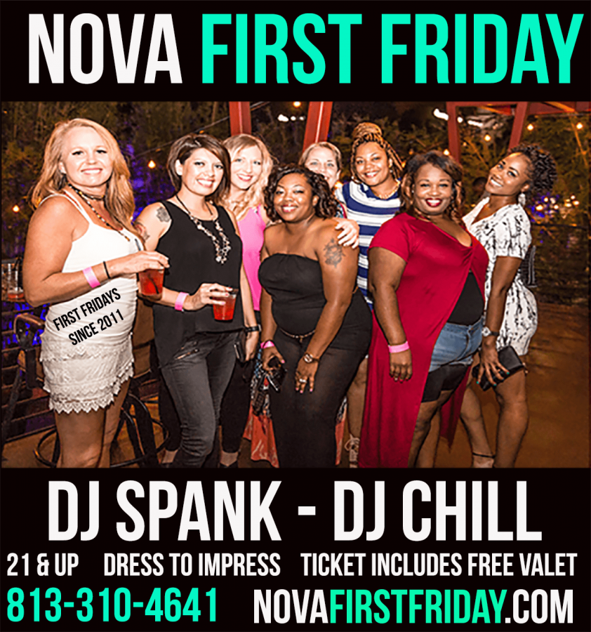 Nova 535 venue in Downtown St. Pete First Friday Flyer