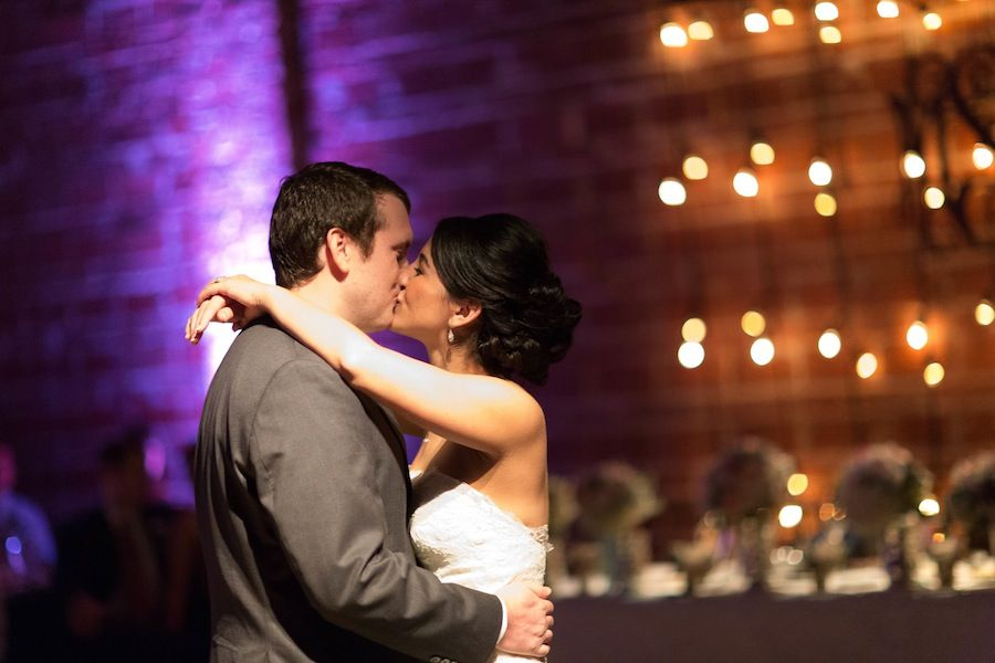 30 Bride and Groom Kissing at Wedding Reception | Roohi Photography