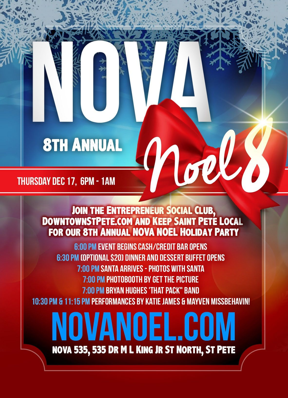 NOVA Noel 8 Thursday Dec 17 2015