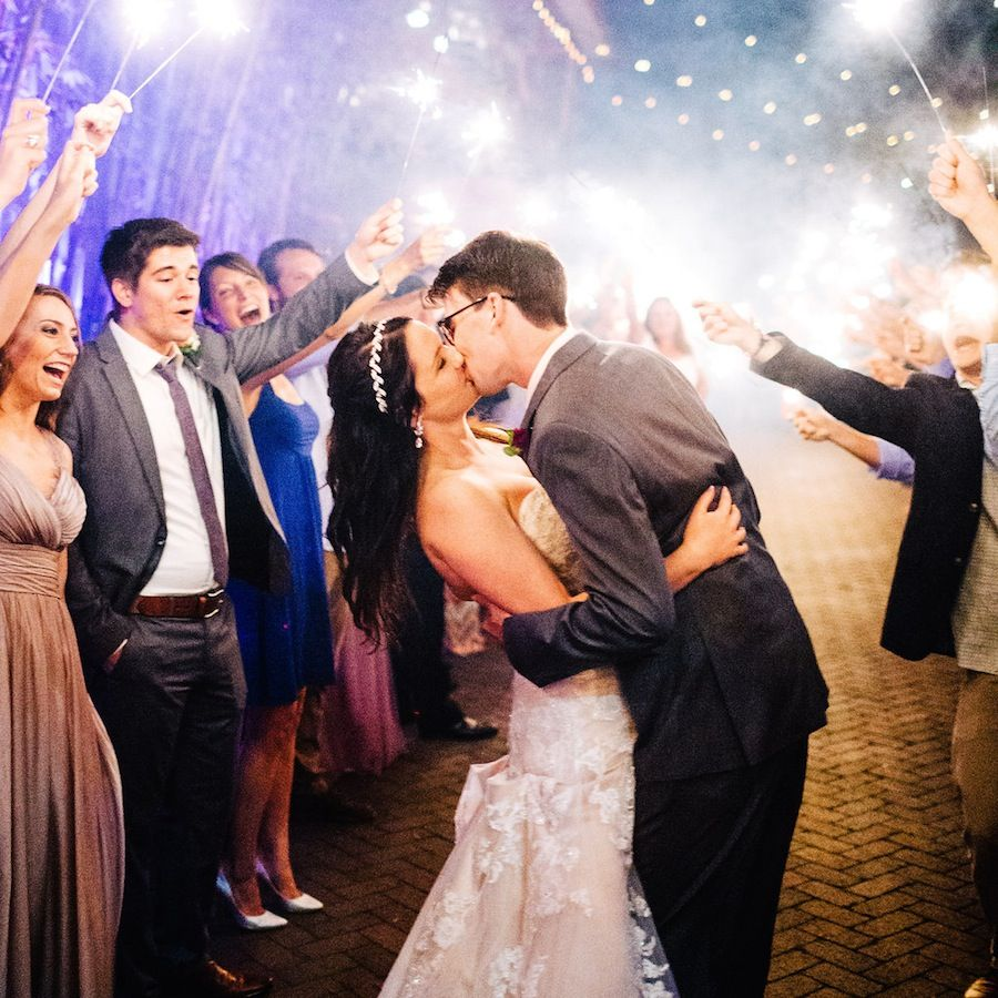 St. Petersburg Sparkler Sendoff For Bride and Groom | Nova 535