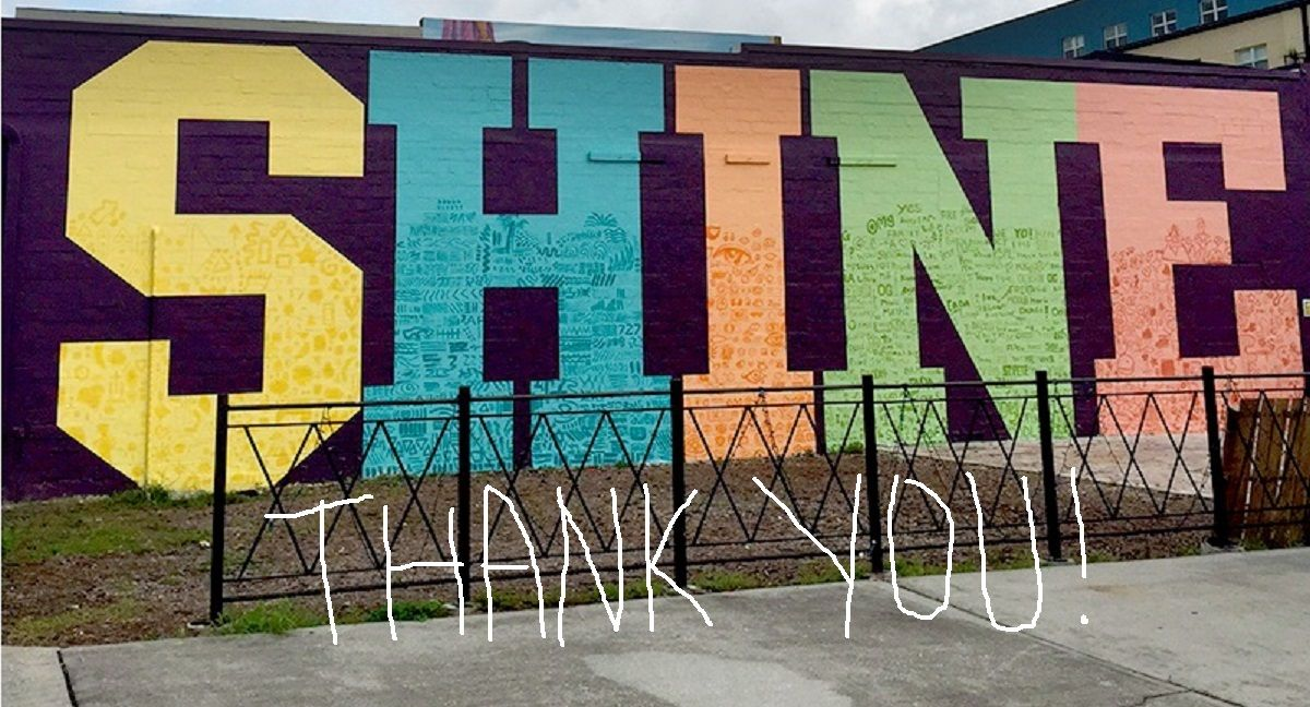 Thank you party for shine st pete mural festival 2015 for Thank you mural