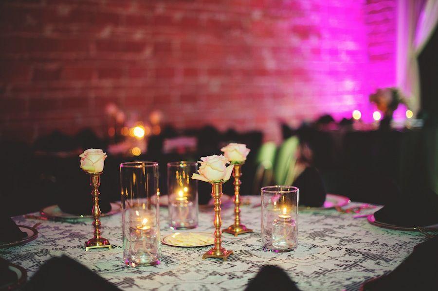 Vintage, Gatsby Inspired Wedding Reception Decor | Nova 535