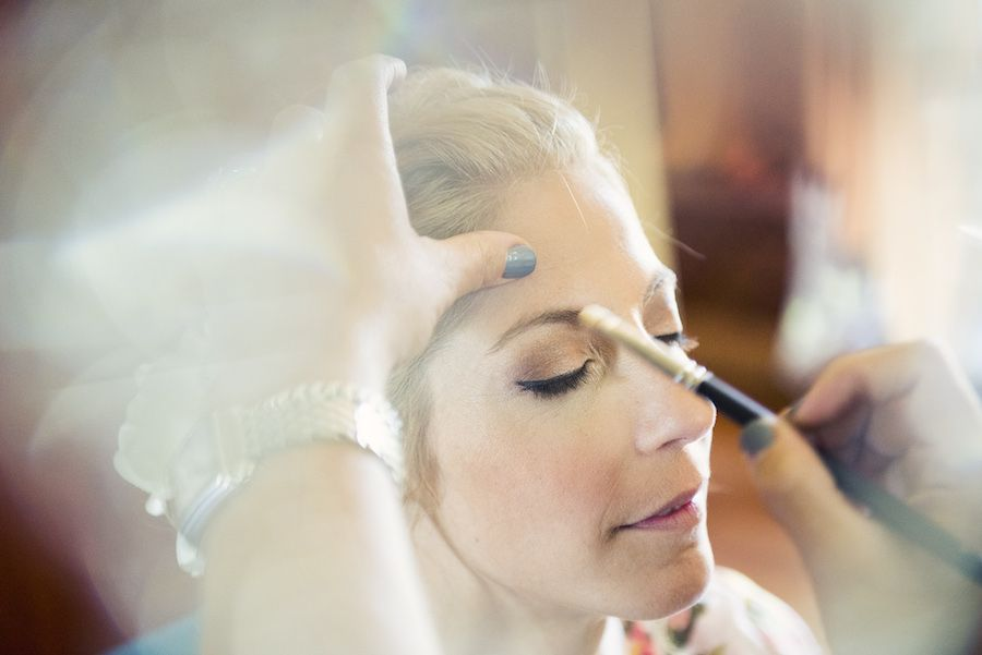 Bride Getting Wedding Makeup Done
