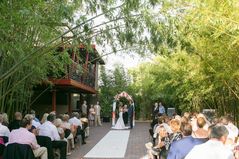 beautiful courtyard ceremonies at historic wedding venue NOVA 535 downtown St. Pete