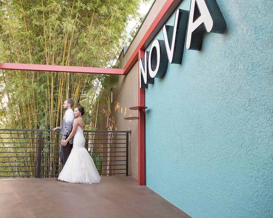 Downtown St. Pete Wedding Venue NOVA 535| Bride and Groom Wedding Portrait | Photo by Tampa Bay Wedding Photographer Kristen Marie Photography
