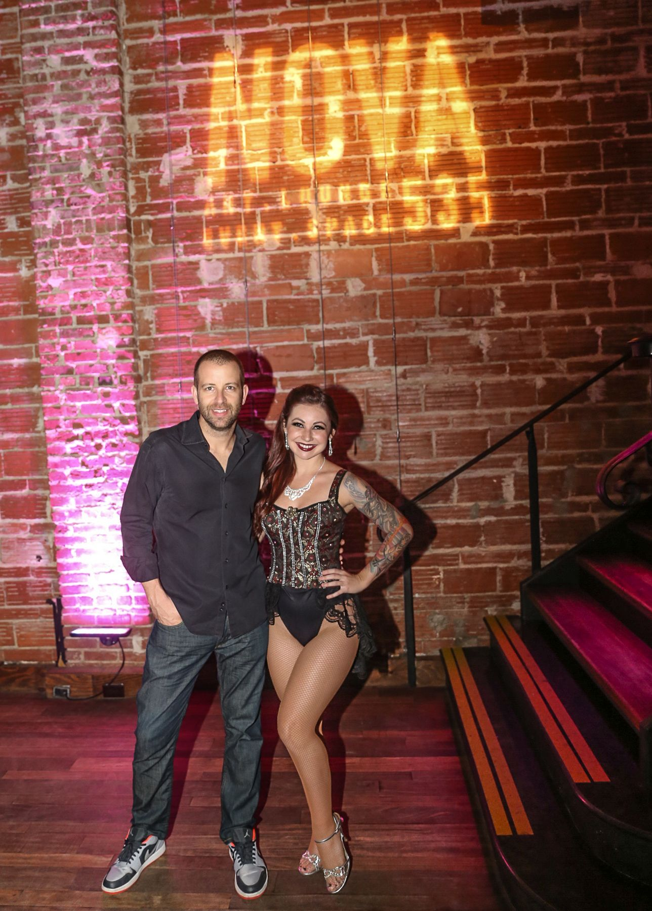 DJ Fresh and Gypsy Allure at NOVA 535 for Moulin Rouge 50th Birthday Party in downtown St. Pete DTSP