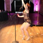 Hostess Gypsy Allure at NOVA 535 for Moulin Rouge 50th Birthday Party in downtown St. Pete DTSP