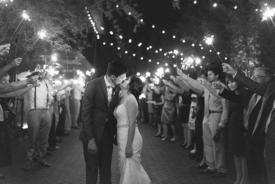 Beach Bride And Groom Wedding Sparkler Exit