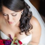 Bridal Portrait in White David's Bridal Sweetheart Strapless Wedding Dress