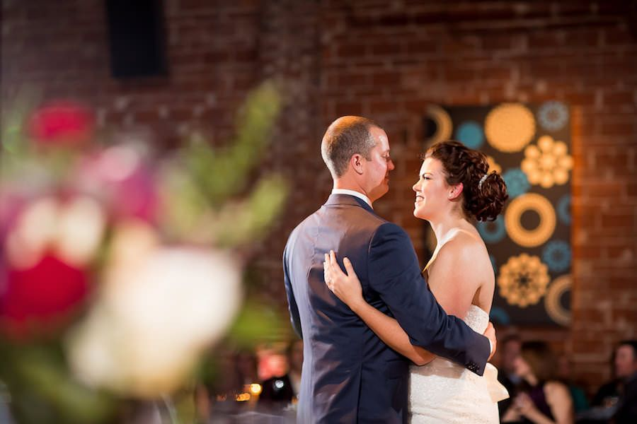 Bride and Groom First Dance | Downtown St. Pete Wedding Venue NOVA 535