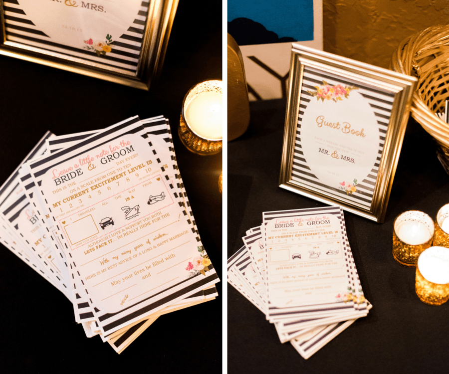 Black and White Wedding Guest Book and Sign in Table Ideas