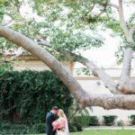 Outdoor, St. Pete Bride and Groom Wedding Portrait