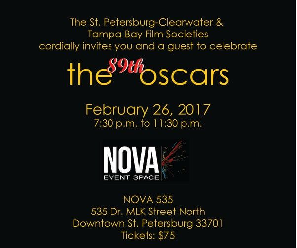 The 89th Oscars Watch Party Black Tie Dinner at historic DTSP venue NOVA 535