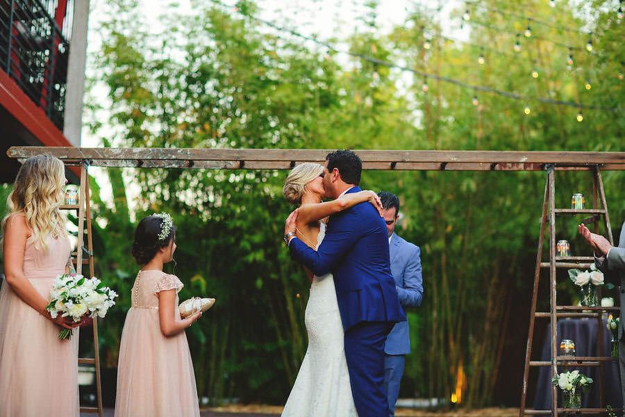 Industrial Chic Outdoor Wedding Ceremony at St. Petersburg Wedding Venue NOVA 535