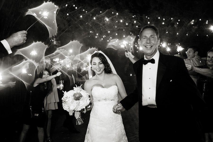 Romantic Wedding Reception Sparkler Exit | Modern Unique Downtown St. Pete Wedding Venue NOVA 535