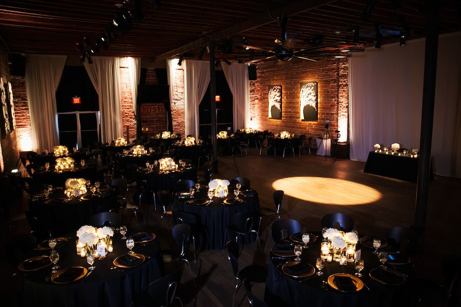 Ivory, Gold and Navy Wedding Reception at St. Pete Wedding Reception Venue NOVA 535