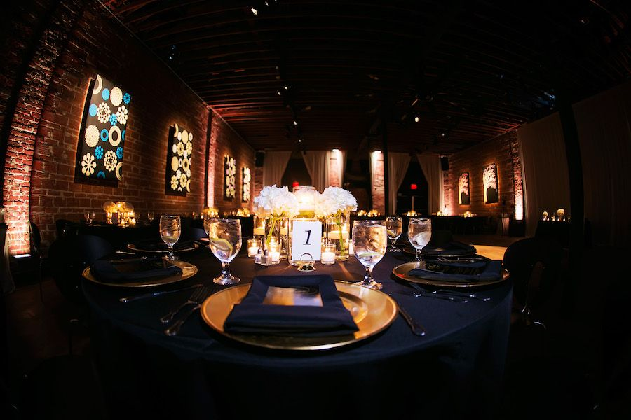 Ivory, Gold and Navy Wedding at Unique St. Pete Wedding Reception Venue NOVA 535