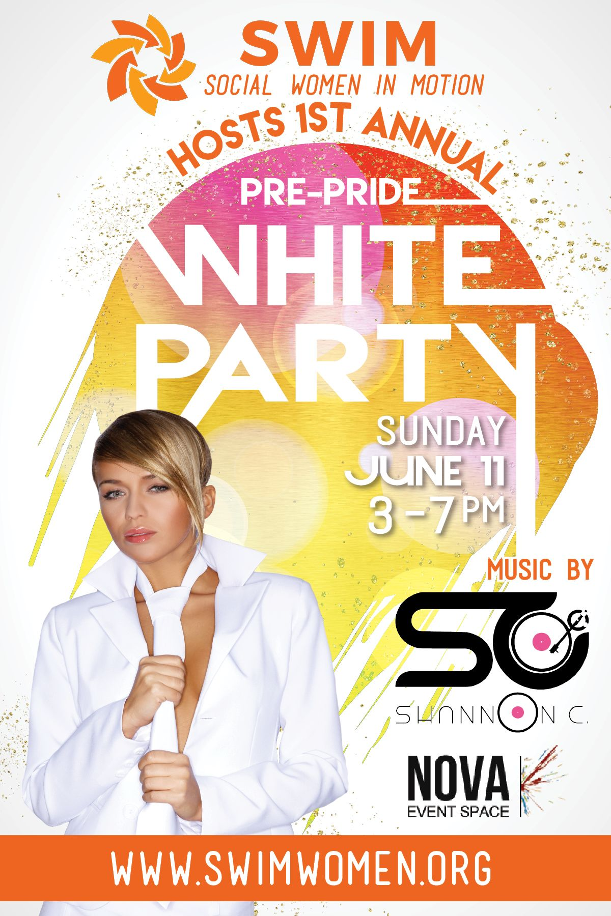 SWIM Pride White Party at NOVA 535