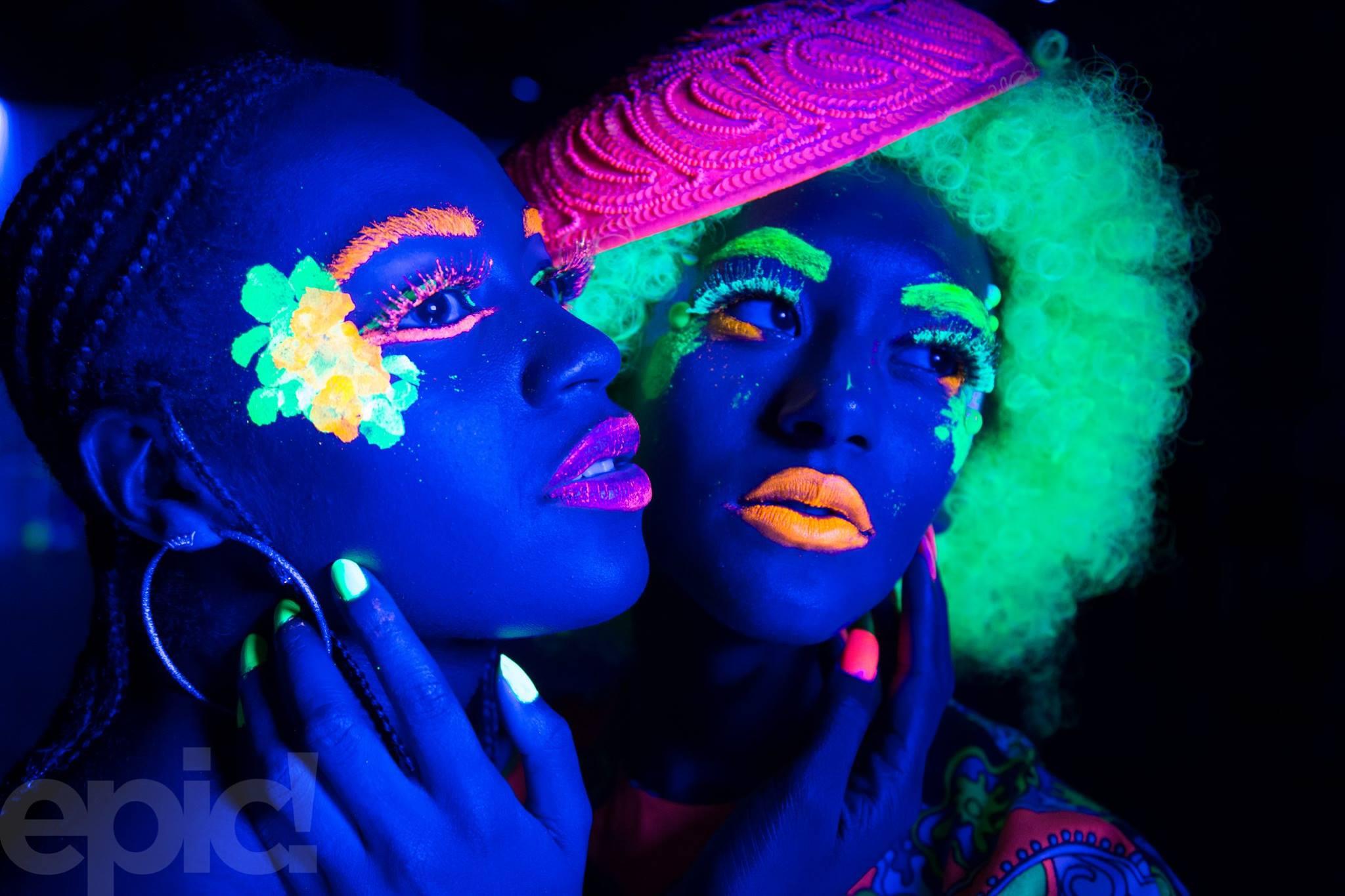 2017 05-04 Luminescence at NOVA 535 Models Bri Bryant and DeLisa Silva