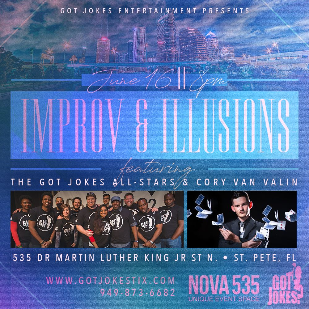 2017 06-16 Improv and Illusions with Got Jokes Entertainment at NOVA 535