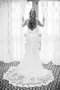 St. Pete Bridal Portrait in Lace Open Back Bridal Wedding Dress with Bow