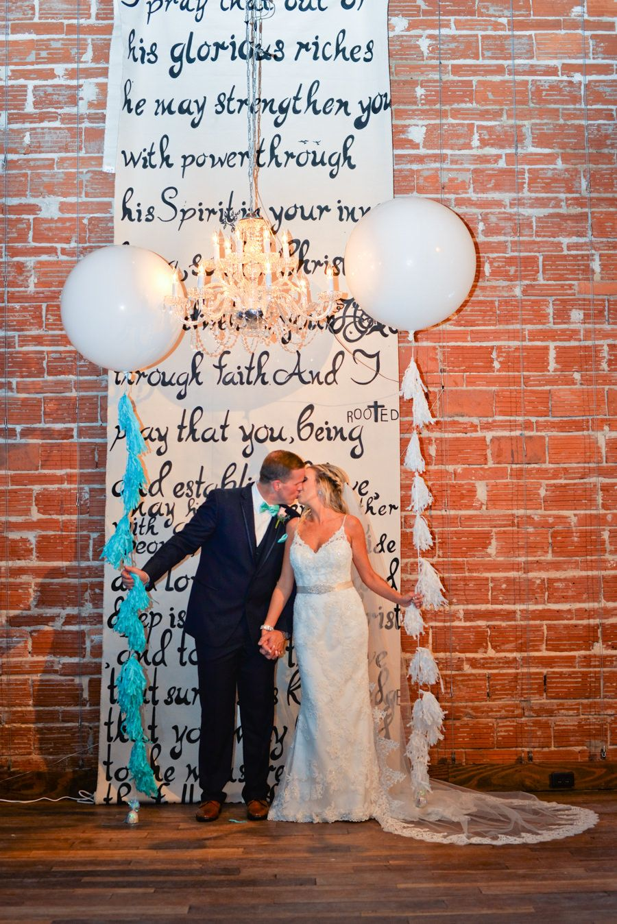 Wedding Ceremony Decor Calligraphy Vow Backdrop | Unique Romantic, Modern Downtown St. Pete Wedding Venue NOVA 535