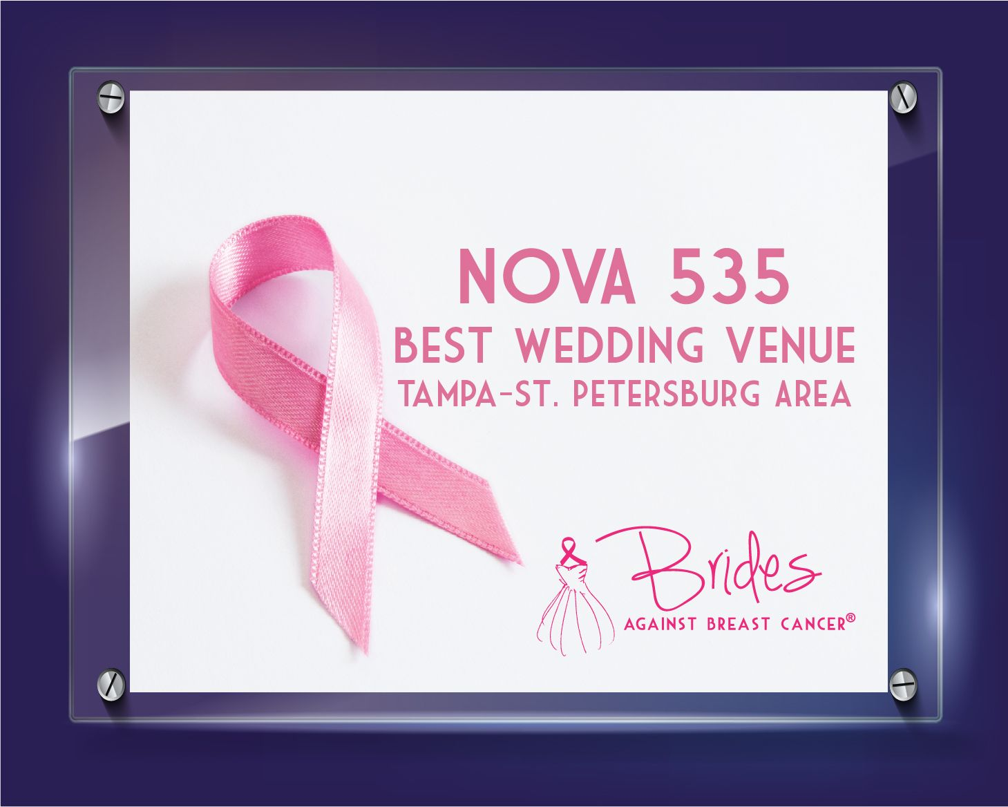 NOVA 535 Awarded Best Wedding Venue by Brides Against Breast Cancer