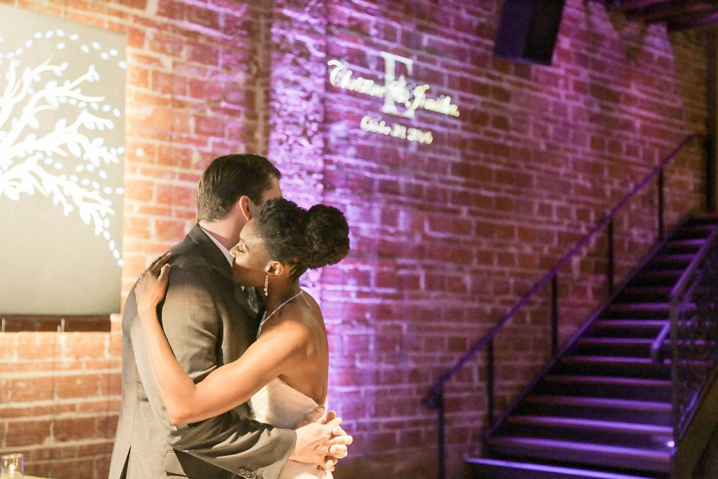 Bride and Groom First Dance Portrait | Unique Modern Downtown St. Pete Wedding Venue NOVA 535