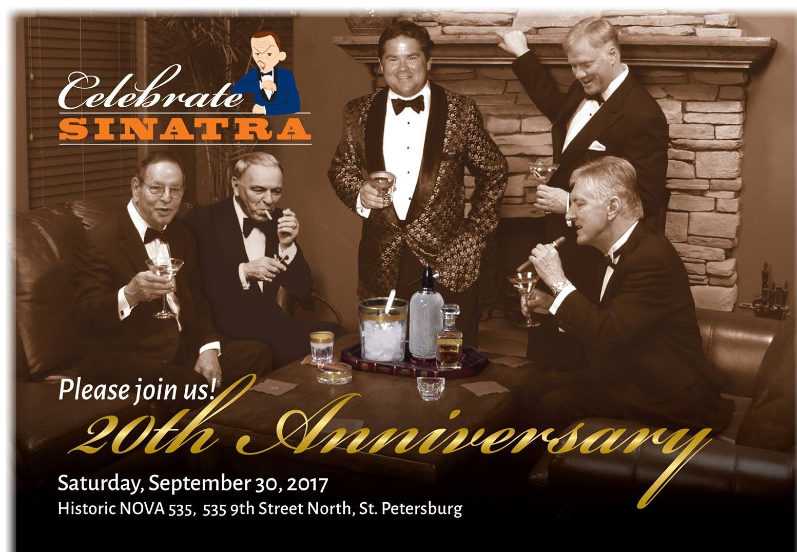 Celebrate Sinatra Saturday Sept 30, 2017 at NOVA 535 flyer