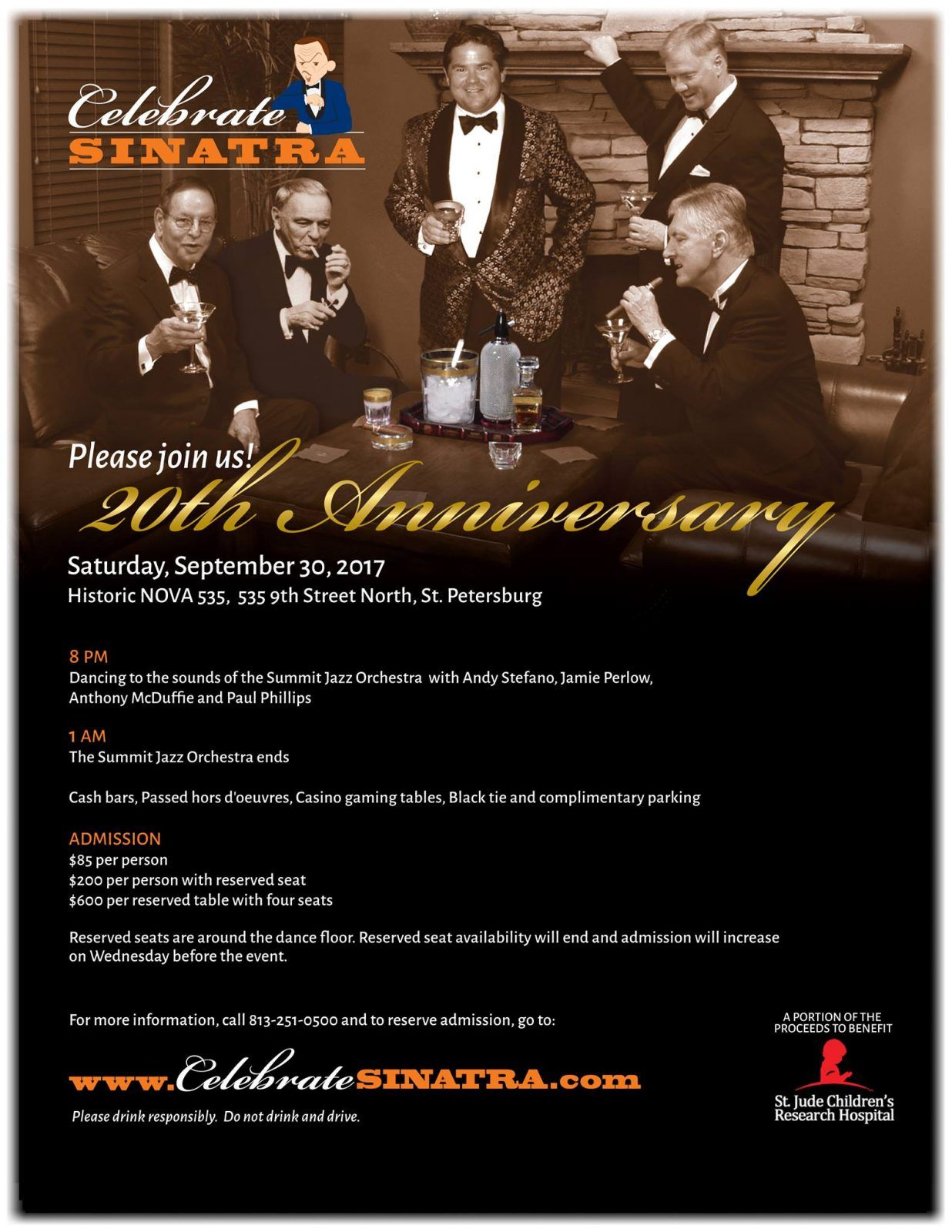 Celebrate Sinatra at NOVA 535 Sept 30, 2017 full flyer