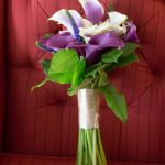 Purple and White Lilly Bouquet with Greenery | Plum and Silver Traditional Meets Modern Wedding at DTSP Historic Venue NOVA 535