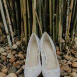 Imagine Vince Camuta White Lace Pointed Toe Stiletto Wedding Shoes