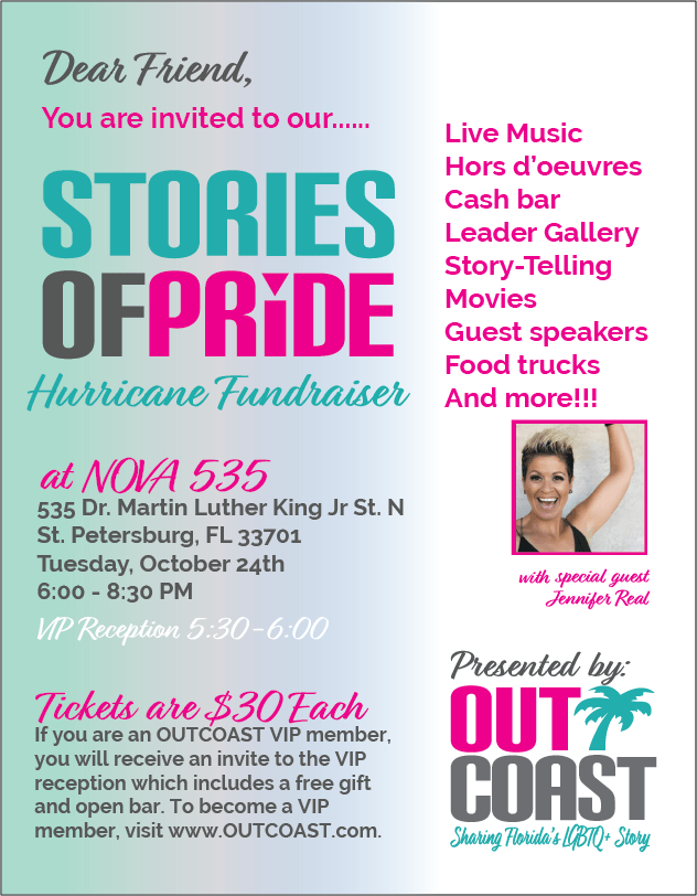 2017 10-24 Outcoast Stories of Pride at DTSP venue NOVA 535 downtown St. Pete - flyer