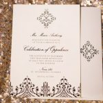 Stylish Black Design Wedding Invitation for Luxurious St. Pete Wedding