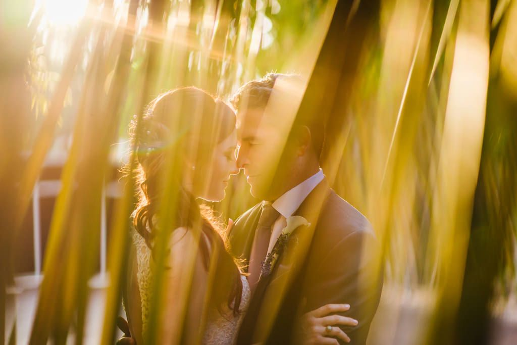 Outdoor Downtown St Pete Garden Wedding Portrait, Groom with Dusty Purple Tie and Calla Lilly Boutonnière | Historic DTSP Event Venue NOVA 535