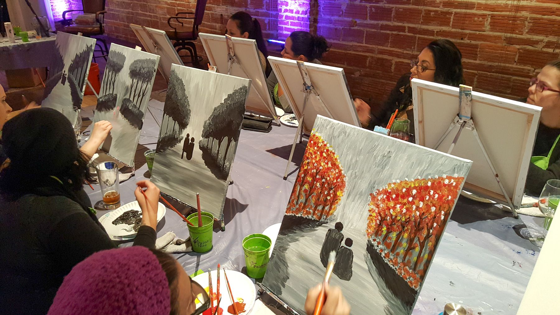 PaintNite at historic DTSP venue NOVA 535 Downtown St. Pete