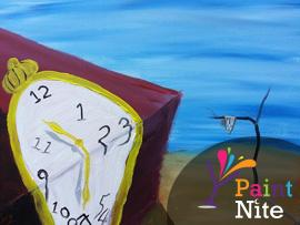 2018 01-10 Wednesday at NOVA 535 PaintNite - Time is Fleeting